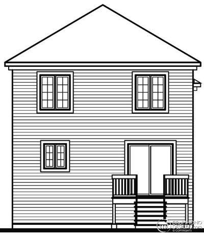 Rear Elevation Plan: 5-378
