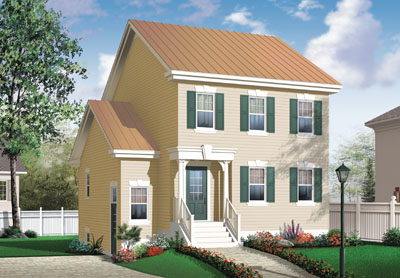 Colonial Style Floor Plans Plan: 5-380