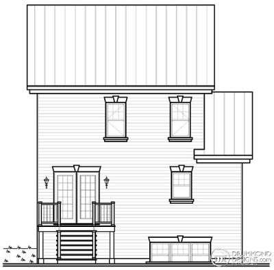 Rear Elevation Plan: 5-380