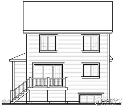 Rear Elevation Plan: 5-381