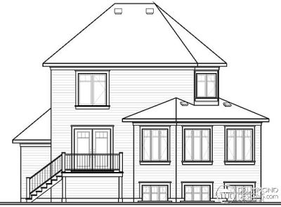 Rear Elevation Plan: 5-383