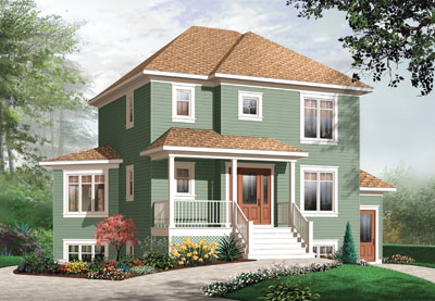 Traditional Style Home Design Plan: 5-384