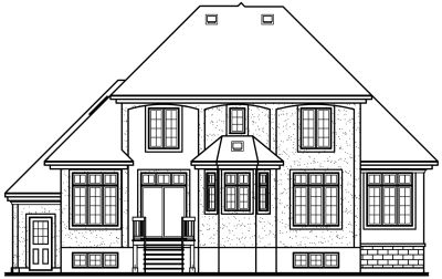 Rear Elevation Plan: 5-388