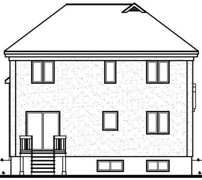 Rear Elevation Plan: 5-389