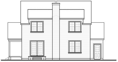Rear Elevation Plan: 5-390