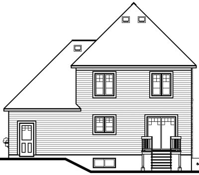 Rear Elevation Plan: 5-391