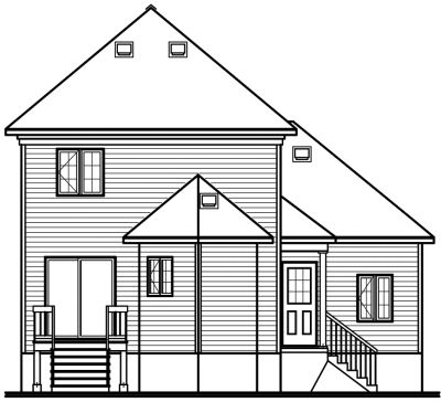 Rear Elevation Plan: 5-392