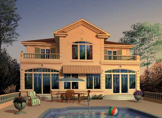 Florida Style Floor Plans Plan: 5-394