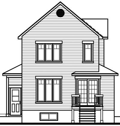 Rear Elevation Plan: 5-395