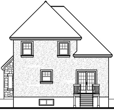 Rear Elevation Plan: 5-396