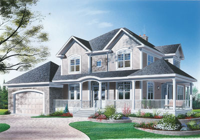 Country Style Floor Plans Plan: 5-397