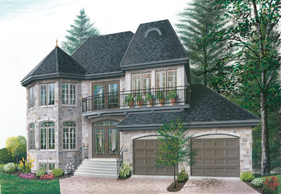 French-country Style House Plans 5-399