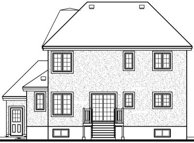Rear Elevation Plan: 5-399