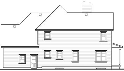 Rear Elevation Plan: 5-400