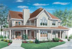 Country Style Floor Plans 5-400