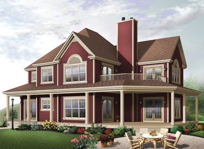 Country Style House Plans Plan: 5-401