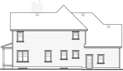Rear Elevation Plan: 5-401