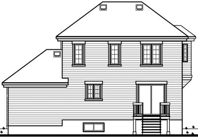 Rear Elevation Plan: 5-404