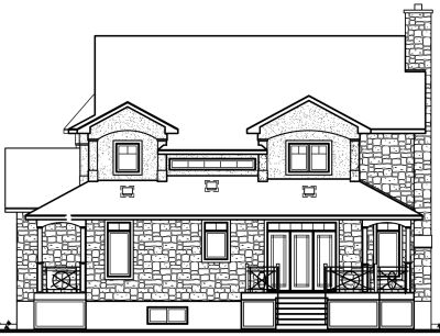 Rear Elevation Plan: 5-408