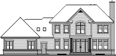 Rear Elevation Plan: 5-409
