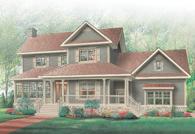 Country Style Home Design Plan: 5-410
