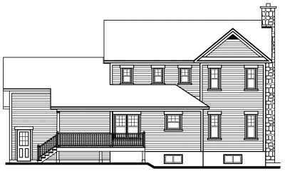 Rear Elevation Plan: 5-410