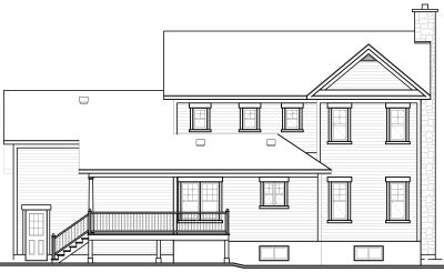 Rear Elevation Plan: 5-411