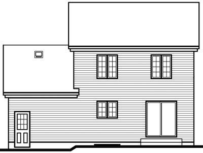 Rear Elevation Plan: 5-412