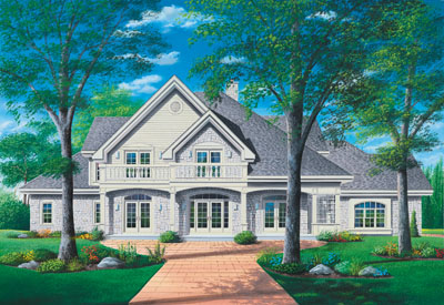 Traditional Style Home Design 5-414