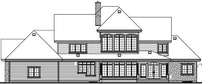 Rear Elevation Plan: 5-414