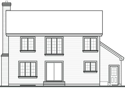 Rear Elevation Plan: 5-415
