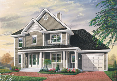 Country Style Home Design Plan: 5-418