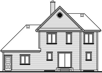 Rear Elevation Plan: 5-418