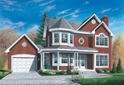 Country Style Floor Plans Plan: 5-420