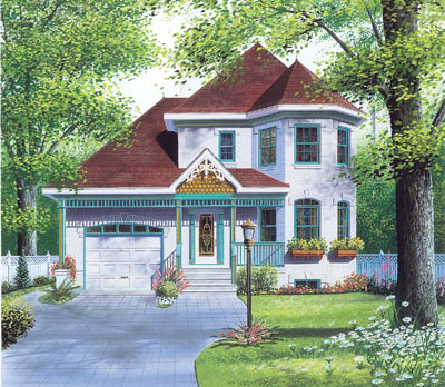 Victorian Style House Plans Plan: 5-421
