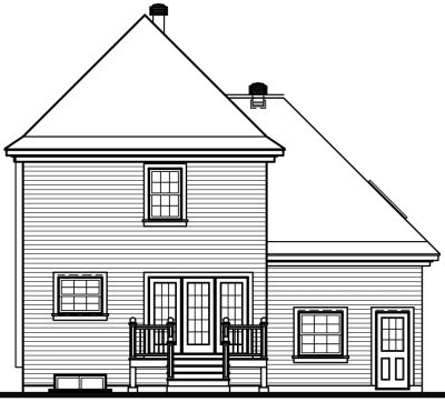Rear Elevation Plan: 5-421
