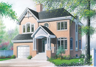 European Style Home Design Plan: 5-422
