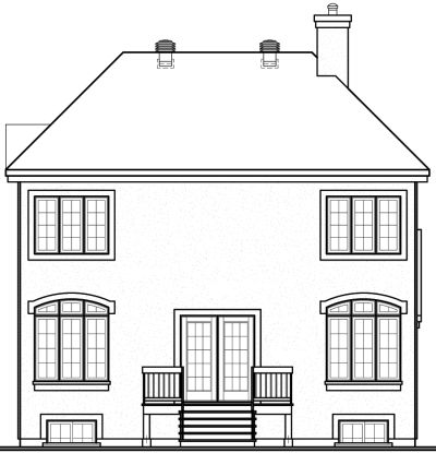 Rear Elevation Plan: 5-422