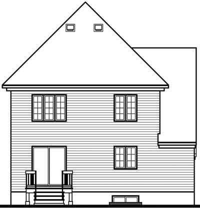 Rear Elevation Plan: 5-423