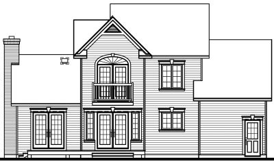 Rear Elevation Plan: 5-424