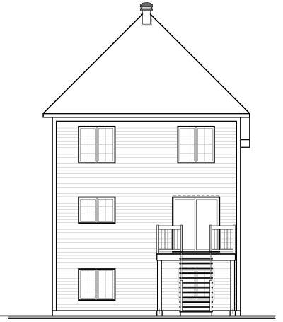 Rear Elevation Plan: 5-426