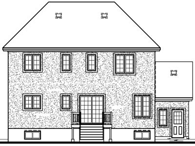 Rear Elevation Plan: 5-430