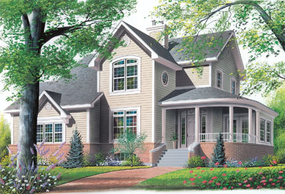 Country Style Home Design Plan: 5-433