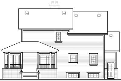 Rear Elevation Plan: 5-433