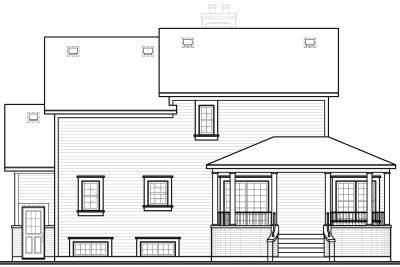 Rear Elevation Plan: 5-434
