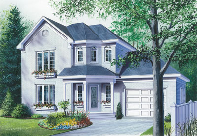 European Style Home Design Plan: 5-435