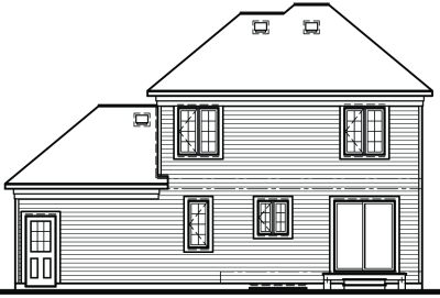 Rear Elevation Plan: 5-435