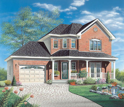 Country Style Home Design Plan: 5-436