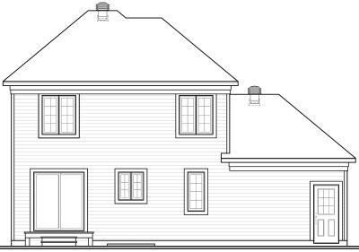 Rear Elevation Plan: 5-436
