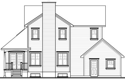 Rear Elevations Plan:5-437